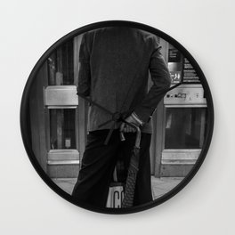 Man Getting out from a Metro Station Wall Clock