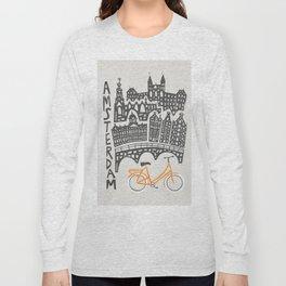 Amsterdam Cityscape Long Sleeve T-shirt