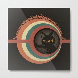 Cats planet Metal Print