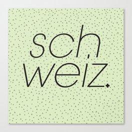 Schweiz//Pistachio   Canvas Print