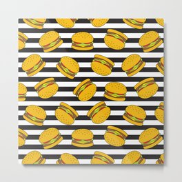 Burger Stripes By Everett Co Metal Print
