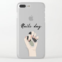 Nails day Clear iPhone Case