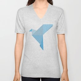 Taking Flight Origami Unisex V-Neck