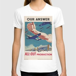 Vintage poster - All-Out Production T-shirt