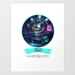 League Of Legends - Ziggs Art Print