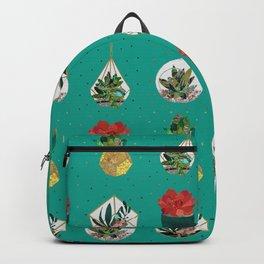 Green Festive Succulents Backpack