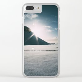 Sunshine behind the Mountain Clear iPhone Case