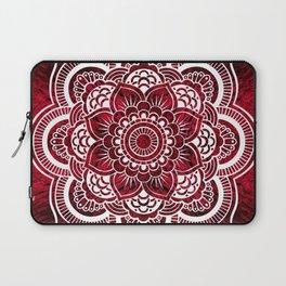 Mandala Red Colorburst Laptop Sleeve