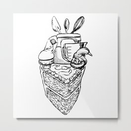The Heart of a Baker Metal Print