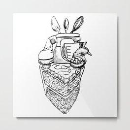 The Heart of a Baker Metal Print