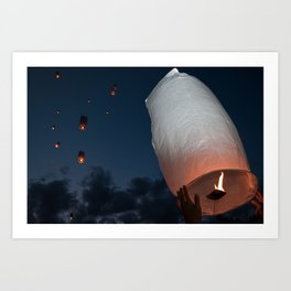 Letting Go - Paper Lanterns Art Print