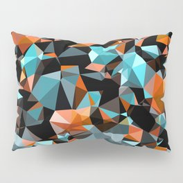 Copper Vein Abstract Low Poly Geometric Triangles Pillow Sham
