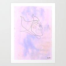 One line maleficent Art Print