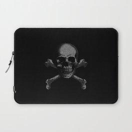 Hacker Skull and Crossbones Laptop Sleeve