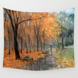 Autumn in the park # 2 Wall Tapestry