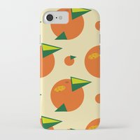 orange pattern iPhone & iPod Cases featuring orange pattern by Avrora-slip