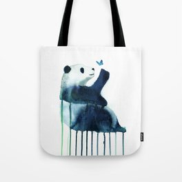 panda and butterfly Tote Bag