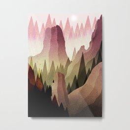 Canadian Peaks Metal Print
