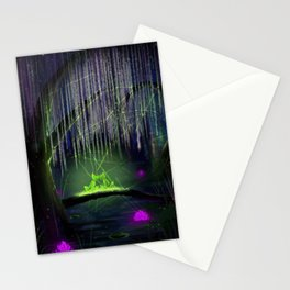 Frogs on a log Stationery Cards