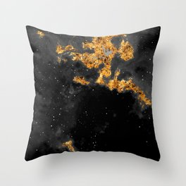100 Starry Nebulas in Space Black and White 031 (Portrait) Throw Pillow