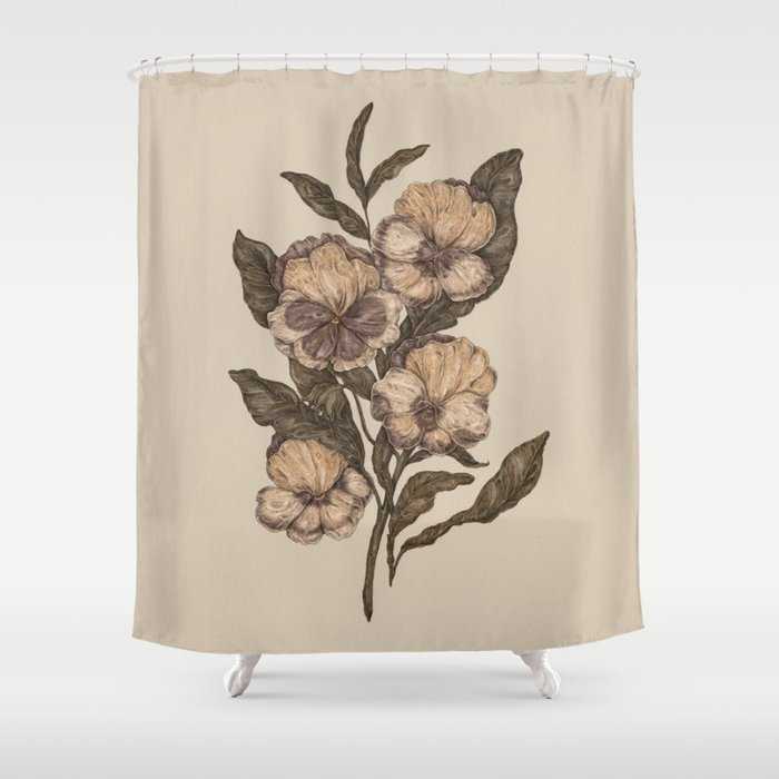 Pansy Shower Curtain By Jessicaroux