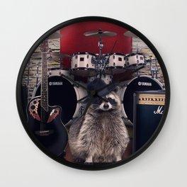 raccoon rock Wall Clock