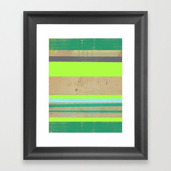 Neon Feeling Framed Art Print