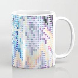 Pixelated Nebula Blue Coffee Mug