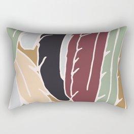 Modern Feathers Earth Tones Rectangular Pillow