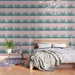 Blush Agave Dream #1 #tropical #decor #art #society6 Wallpaper
