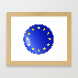 EU Button Framed Art Print