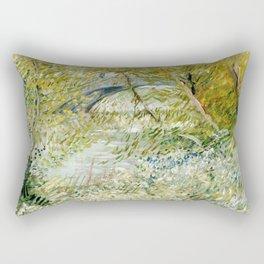 River Bank in Springtime Rectangular Pillow