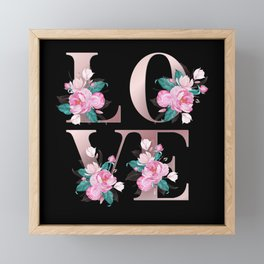 Love Rose Framed Mini Art Print