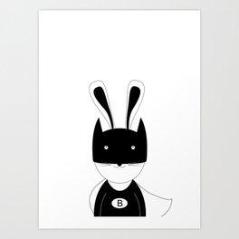 Bunny super hero Art Print