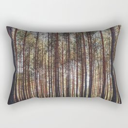 trees in forest photo, tree landscape photography Rectangular Pillow