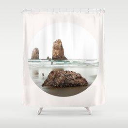 Cannon Beach oregon Shower Curtain