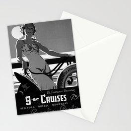 vintage Plakat 9 Day Cruises Stationery Cards