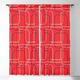 Retro Cubes Red  #midcenturymodern Blackout Curtain