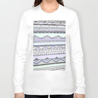 tribal Long Sleeve T-shirts featuring Tribal by Fay Newman