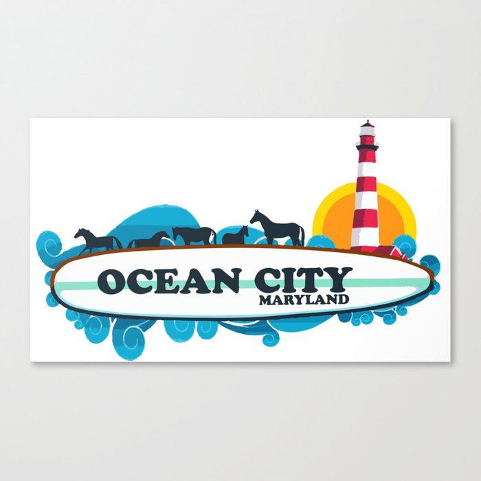 Ocean City - Maryland. Canvas Print
