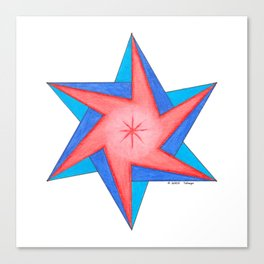 HEART PORTAL STAR Canvas Print