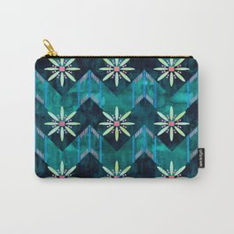 Biarritz Chevron Green Carry-All Pouch