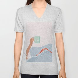 Coffee or Coffin Unisex V-Neck