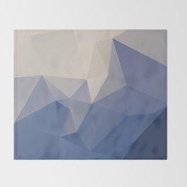 Blueberg – modern polygram illustration Throw Blanket
