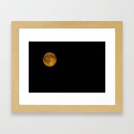 Strawberry Moon aka Honey Moon  Framed Art Print