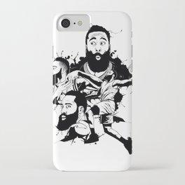 basketball fan art iPhone Case