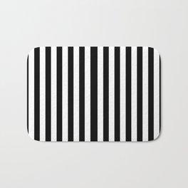 Black White Stripe Bath Mat