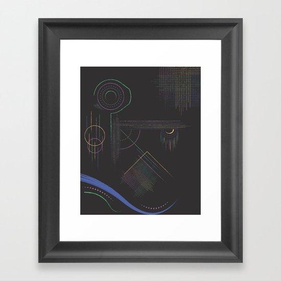Dream Diagram Framed Art Print