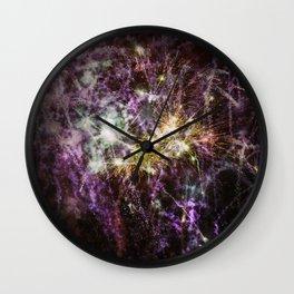 Overprinted fireworks Wall Clock