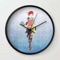 borderlands Wall Clocks featuring Borderlands 2 - Lilith by LightningJinx